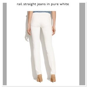 Madewell rail straight high rise jeans in white